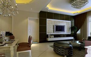 2016别墅型欧式客厅背景墙设计效果图欣赏