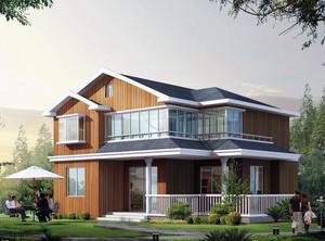 2016极美的现代农村别墅外观设计效果图