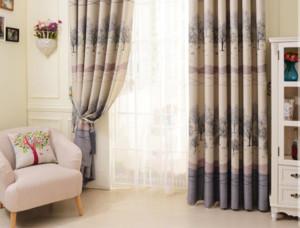 时尚田园风格客厅窗帘装修效果图