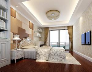 现代时尚简约卧室吊灯装修效果图