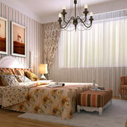 时尚精致卧室背景墙装修图