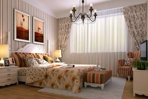 120平米时尚简约精致卧室背景墙装修效果图
