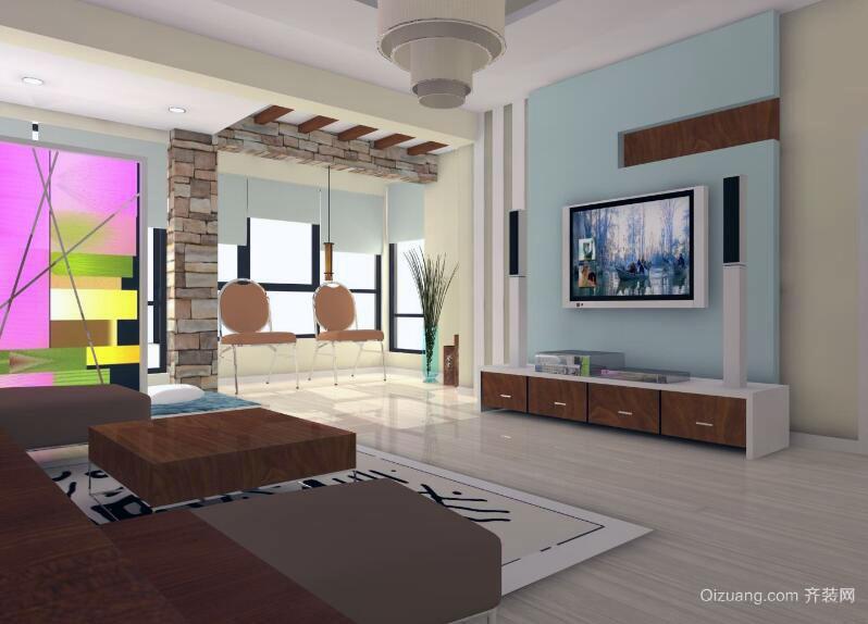 经典唯美的大户型家庭室内简单装修效果图