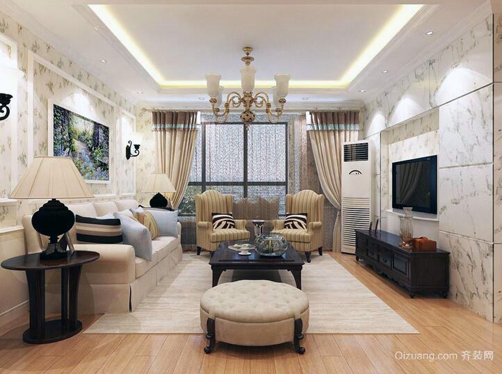 现代宜家大户型客厅装修壁纸效果图欣赏