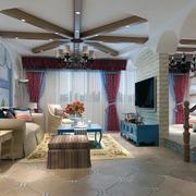 60平米雅观小户型欧式客厅装修效果图