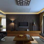 小户型欧式客厅液晶电视背景墙装修效果图