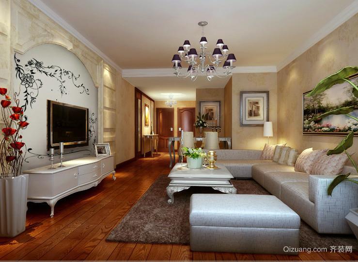 大户型复式小楼现代简欧客厅装修效果图