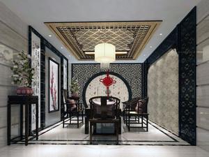 别墅型复古风格家装客厅装修效果图欣赏