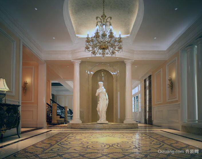 2016欧式风格别墅型玄关装修效果图实例