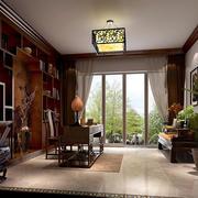 中式书房飘窗整体图
