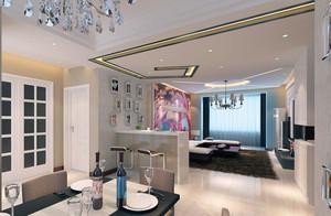 都市宜家时尚的大户型客厅隔断装修效果图