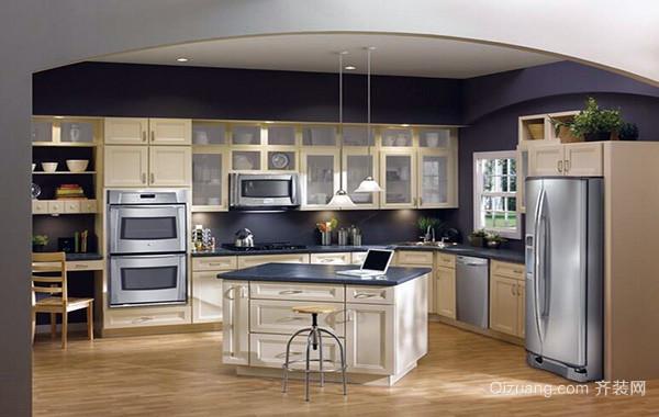 欧式风格别墅家庭开放式厨房吊顶装修效果图