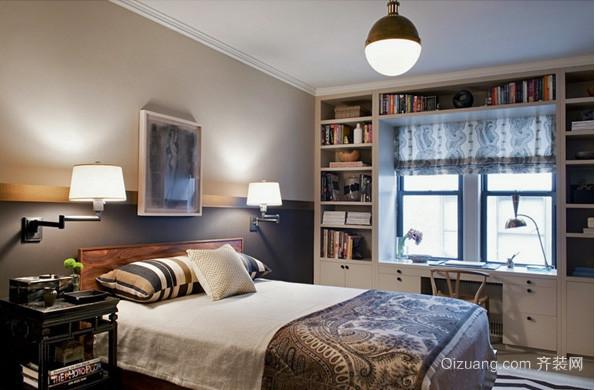 现代时尚简约温馨卧室飘窗装修效果图