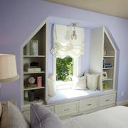 温馨紫色飘窗效果图
