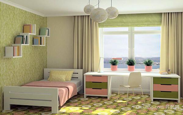 小户型现代儿童房卧室背景墙装修效果图实例
