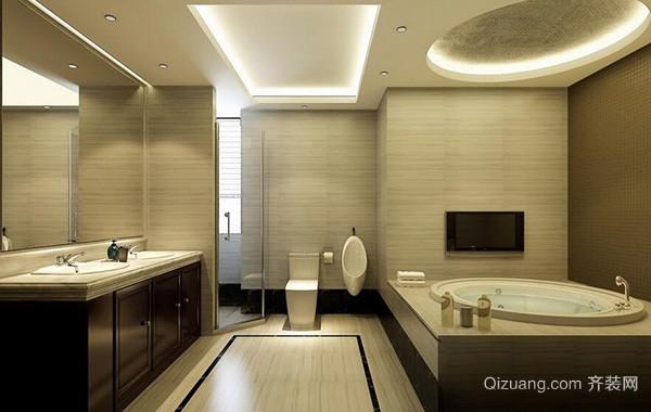 现代欧式别墅型卫生间背景墙装修效果图欣赏