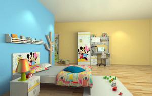 充满童趣的时尚可爱儿童房装修效果图