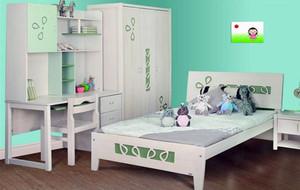 现代简约时尚又不失童趣的儿童房背景墙装修效果图
