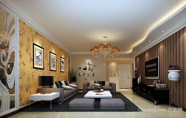 2016大户型欧式客厅室内吊顶装修效果图