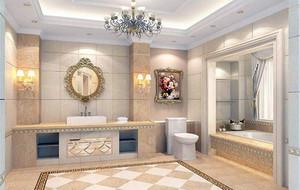 欧式风格大户型洗手间吊顶装修效果图