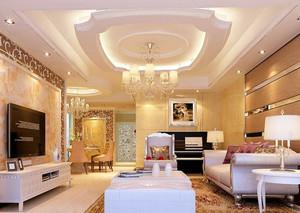 全新款简欧风格客厅吊灯装修效果图