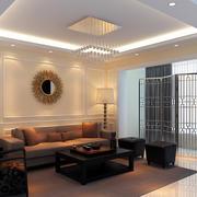 后现代风格时尚客厅装修效果图