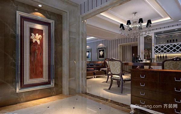 欧式别墅型现代精致的玄关隔断装修效果图