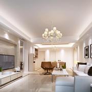 现代豪华简约又不失时尚的客厅装修图