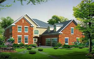 经典的现代农村别墅设计外观效果图