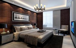 大户型后现代装修风格卧室背景墙装修效果图