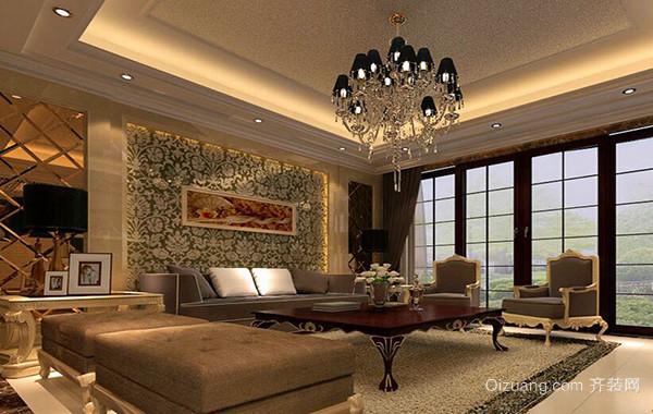 100平米大户型欧式房屋客厅吊顶装修效果图