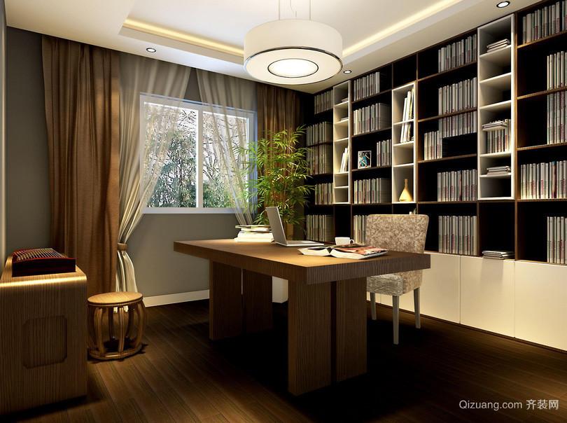 现代豪华时尚中式书房装修效果图图片