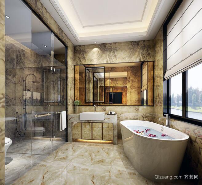 90平米唯美欧式卫生间装修效果图实例