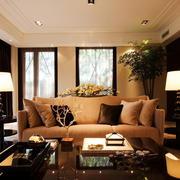 现代中式客厅效果图
