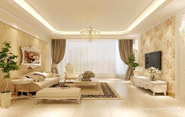 现代别墅复式小楼精致客厅装修效果图