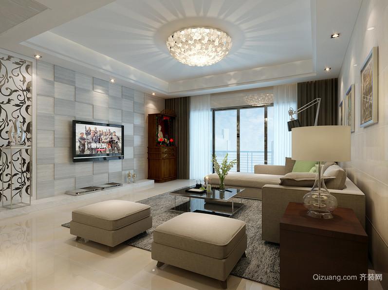 200平米现代时尚简约客厅吊灯装修效果图