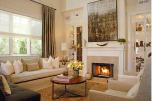 现代简欧复古风格客厅装修效果图