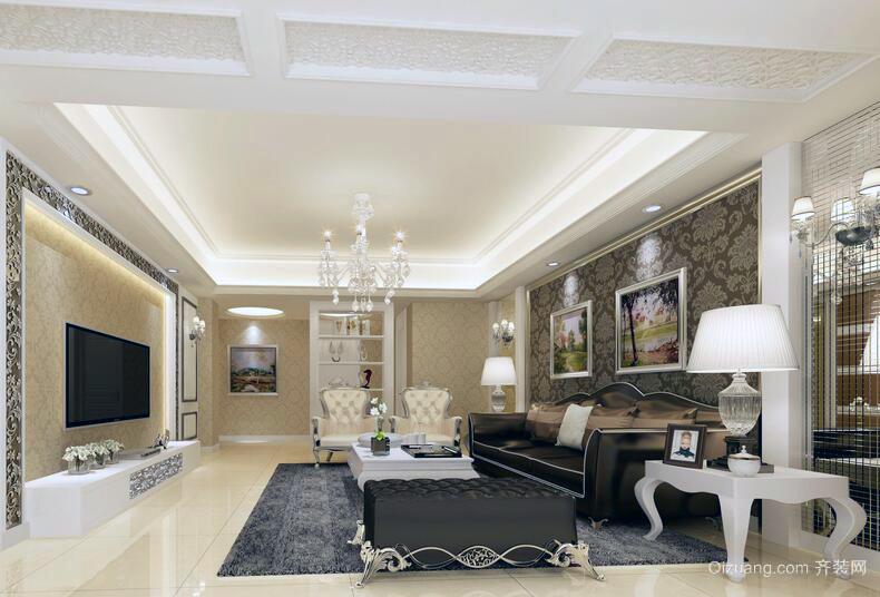 自建别墅型欧式风格客厅装修效果图鉴赏
