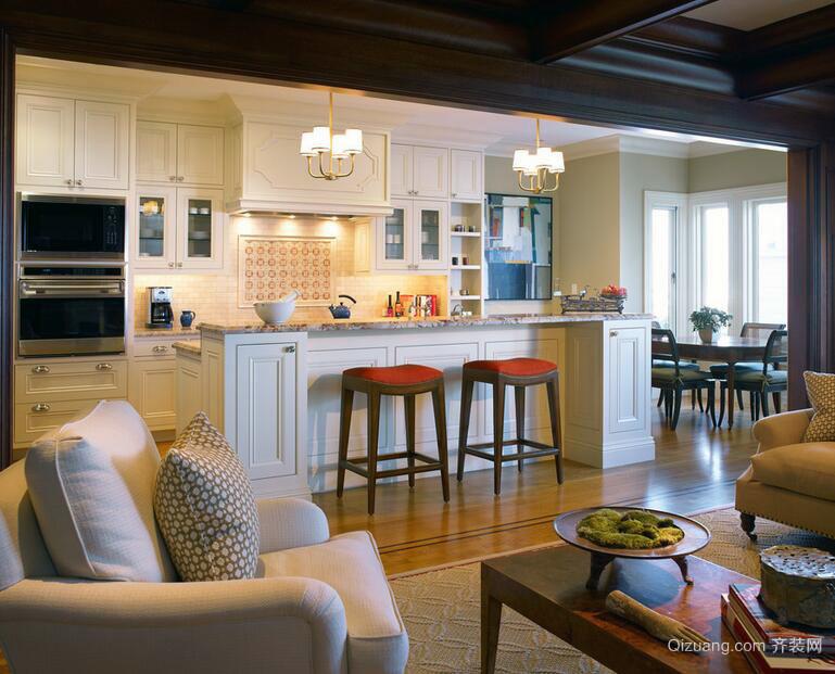 别墅型现代开放式厨房装修效果图实例