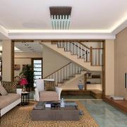 200平米复式小楼时尚混搭客厅装修效果图