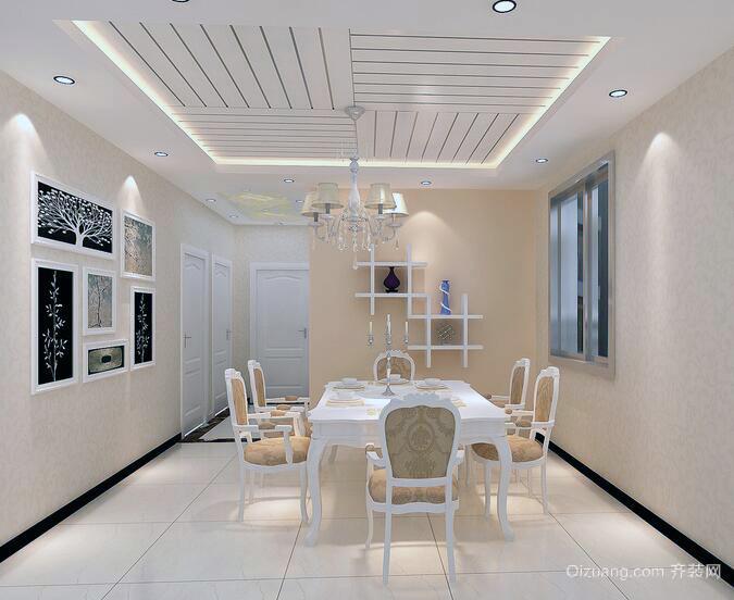 2016欧式别墅型家庭餐厅装修效果图鉴赏