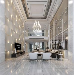 豪华200平米复式楼客厅装修效果图