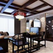 120平米也能拥有的现代中式风格客厅效果图