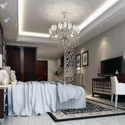 唯美的现代单身公寓卧室装修效果图