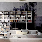 书房背景墙装修图