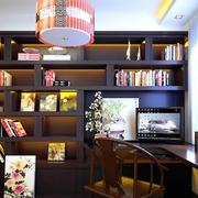 中式书房吊灯装修效果图