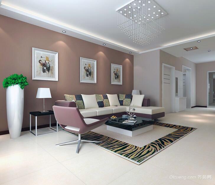 精致的现代大户型客厅沙发背景墙装修效果图