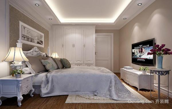 100平米欧式风格房屋卧室吊顶装修效果图