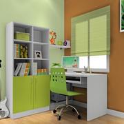 动感绿色书房装修图