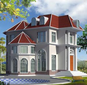 小户型现代农村小别墅设计效果图实例